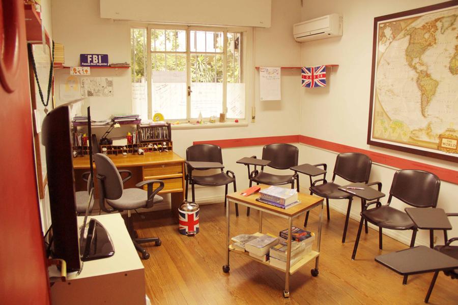 Salón de clases de inglés